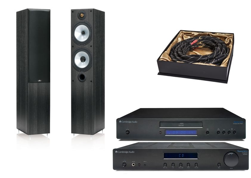 Cambridge Audio Topaz AM10 + CD10 +  Monitor Audio Monitor 300